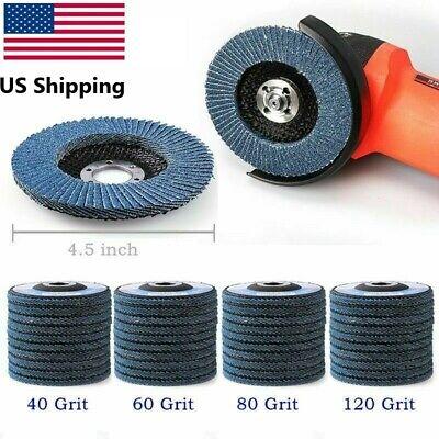 4.5 Inch Zirconia Sanding Flat Flap Disc Grinding Wheels 40 60 80 120 Grit Tr27