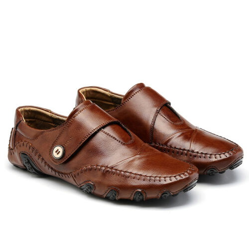 Vintage Land Rover Mens Loafer Driving Moccasin Brown: NEW Men's Casual Leather Shoes Classic Flats Moccasins