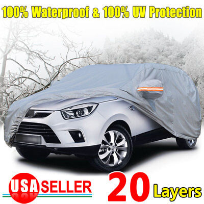 Suv Full Car Cover Waterproof Outdoor Uv Snow Dust Rain Resistant Protection Suv
