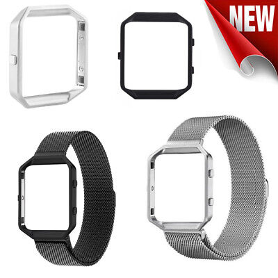 Stainless Steel Metal Strap Watch Band &Frame Wristband For Fitbit Blaze (Stainless Steel Frames)