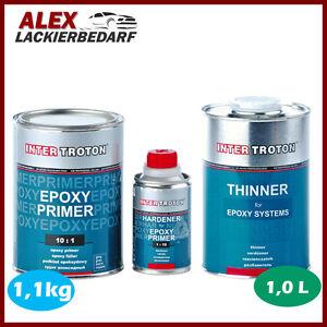 Inter Troton 2K Epoxy Primer Epoxid Grundierung 1kg + Härter + EP Verdünnung