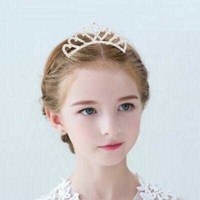 Birthday Girl Crown (Baby Kids Girls Tiara Hair Accessories Crystal Crown W/ Comb Princess)