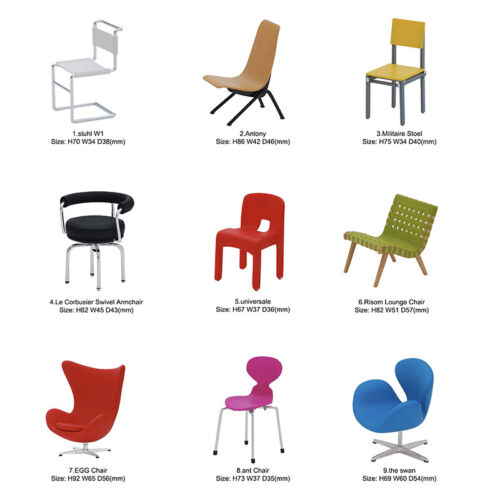 Rare Reac Japan Miniature 1/12 Scale Designer Chairs Vol.5(Each Sell Separately)