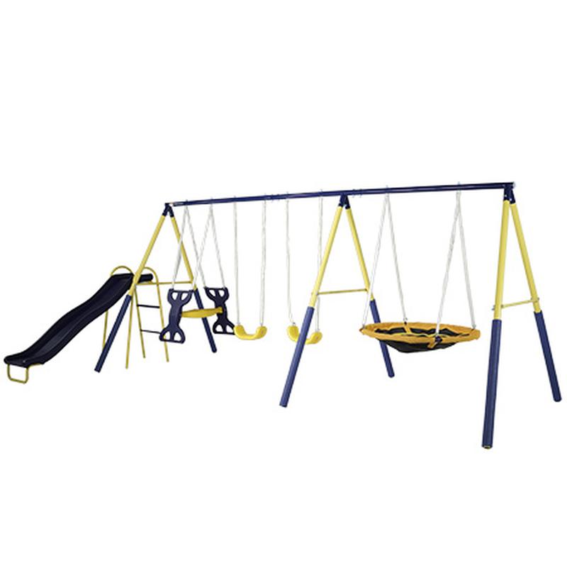 Swing Set Metal Swingset Metal Playground Play Playset Outdo