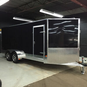 7' x 16' ALUMINUM CONTRACTOR CARGO TRAILER • 3 Year Warranty