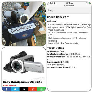 Digital camcorder with hard drive