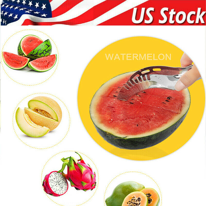 1PC Stainless Steel Watermelon Cutter Fruit Slicer Metal Tool Kitchen Gadgets