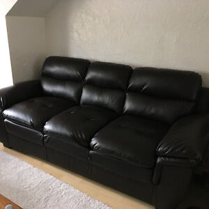 Beautiful bonded leather couch and loveseat