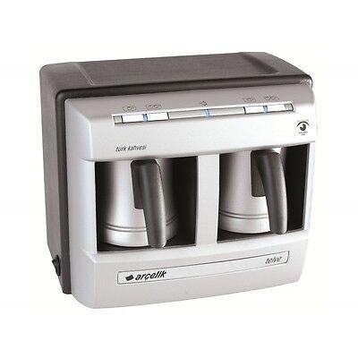 Arcelik K3190P All-encompassing Automatic Greek Turkish Coffee Machine Maker - Double Pot