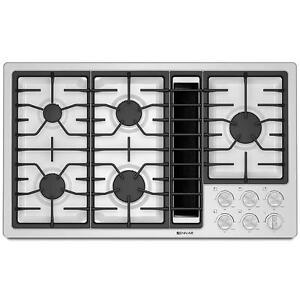 Plaque de cuisson Jenn-air 36'', au gaz avec hotte intégrée, blanche