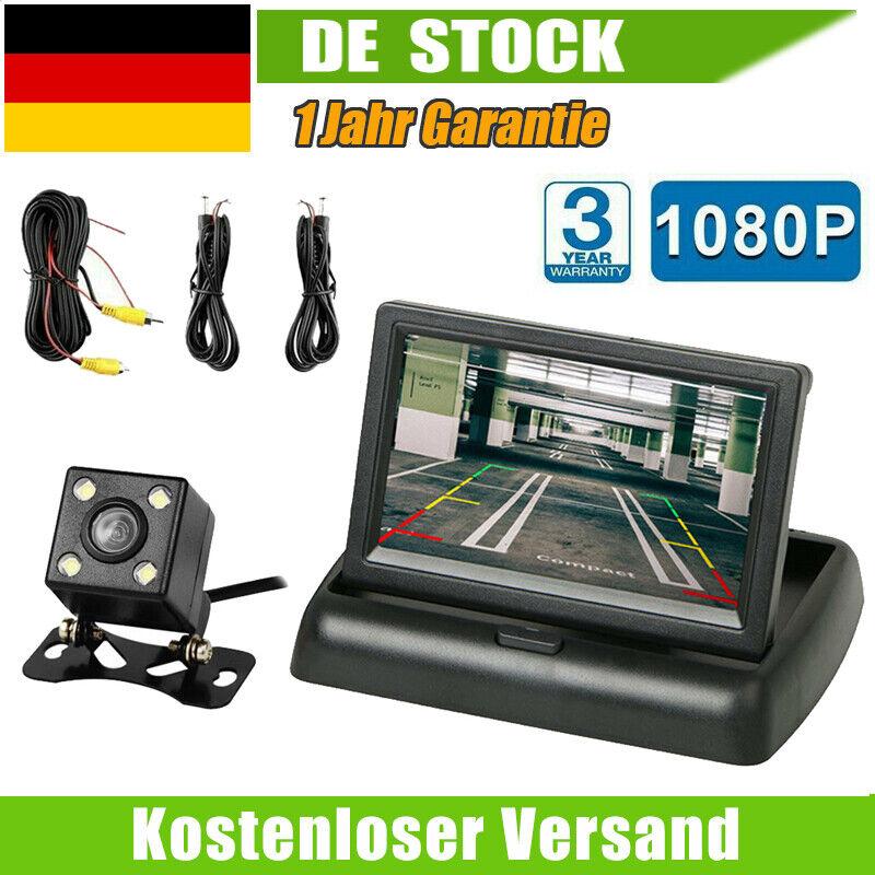 Rückfahrkamera Autokamera mit 4.3'' LCD Monitor Einparkhilfe System Nachtsicht M