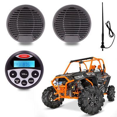 "waterproof Radio marine stereo Bluetooth 2 black 3"" car Boat Speaker for ATV UTV"