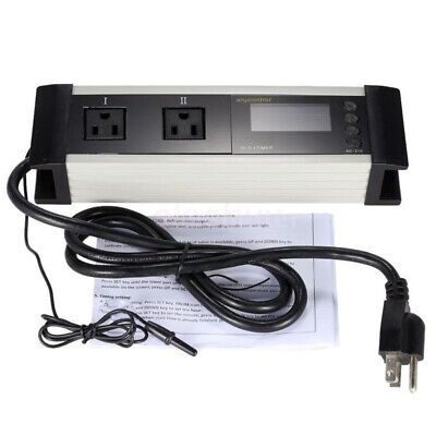 Us Plug Temperature Controller Thermostat Timer For Reptile Aquarium Fish Tank