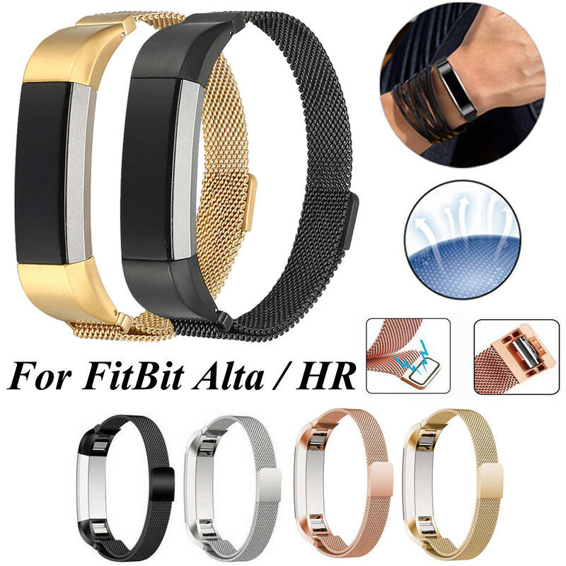Stainless Steel Replacement Magnetic Milanese Band Strap for Fitbit