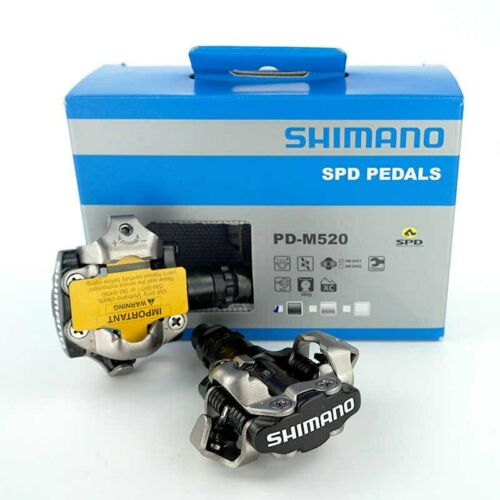 SHIMANO PD-M520 SPD PEDALS Clipless MTB + Cleats SM-SH51 - Bike Cycling