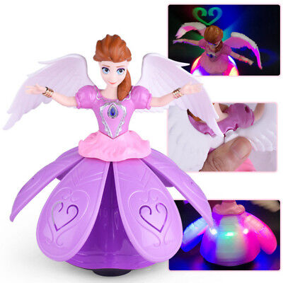 Toys for Girls Dancing Princess Doll LED Light 3 4 5 6 7 Year Old Kids Xmas Gift (Toy For 3 Year Old)
