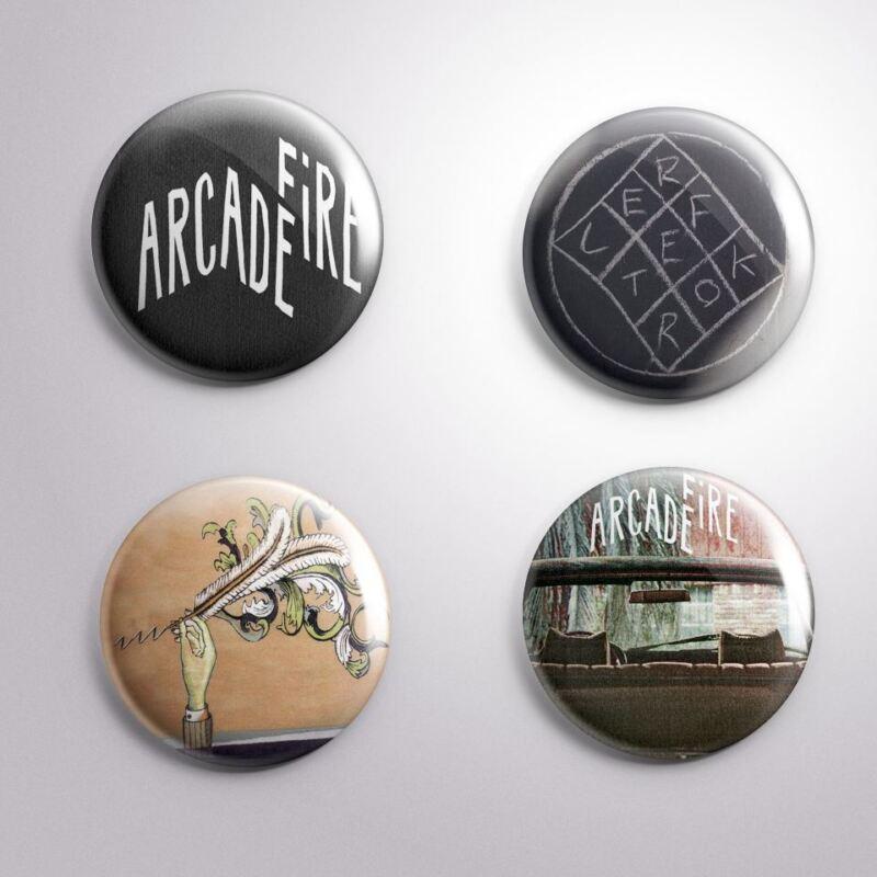 4 ARCADE FIRE - Pinbacks Badge Button 25mm 1