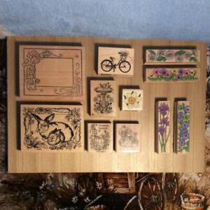 15 RUBBER STAMPS FOR CARD-MAKING OR SCRAPBOOKING FOR SALE!
