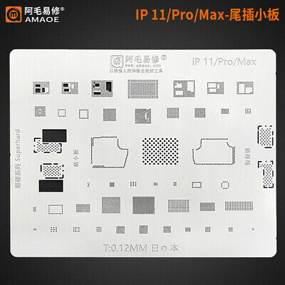 Amaoe Bga Reballing Stencil For Iphone 11promax Dock Charging Port Connector