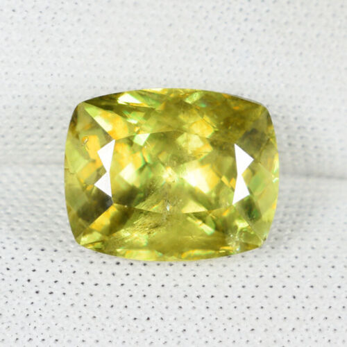 4.53 ct  ULTRA RATE GREEN YELLOW SPARKLING -  NATURAL SPHENE - See Vdo # 5610 SK