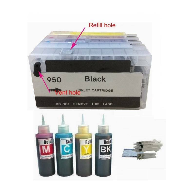 Refillable Cartridge For Hp 950 951 Officejet Pro 8100 86...