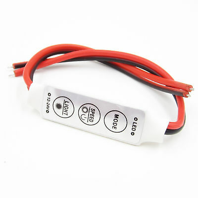 Mini 12V LED Strip Light Dimmer Controller with On Off Switch for 3528 5050 Best