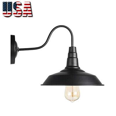 Retro Black Wall Sconce Lighting Gooseneck Barn Lights Led Wall Fixtures Lamp
