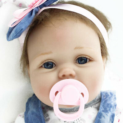 "22"" Reborn Baby Dolls Lifelike Newborn Vinyl Silicone Baby Girl Doll Birthday US"