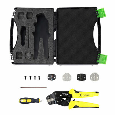 5 In1 Cable Wire Terminal Crimper Ratcheting Crimping Plier Tool Kit Set