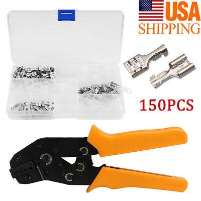 Crimping Wire Crimper Plier Tool Cable Connectors Terminals Ratchet Ferrule Kit