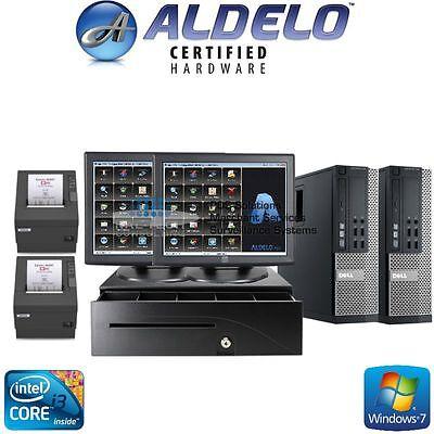 Aldelo Pos Bar Night Club Pub Complete System 2 Station I34gb Ram Free Support