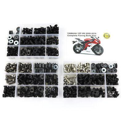Bolt Kit Steel (For 2008-2016 Yamaha YZF R6 2009 2010 2011 2012 Steel Fairing Bolt Screws Kit )