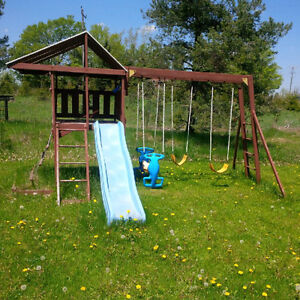 Good Condition Swing Set and Slide