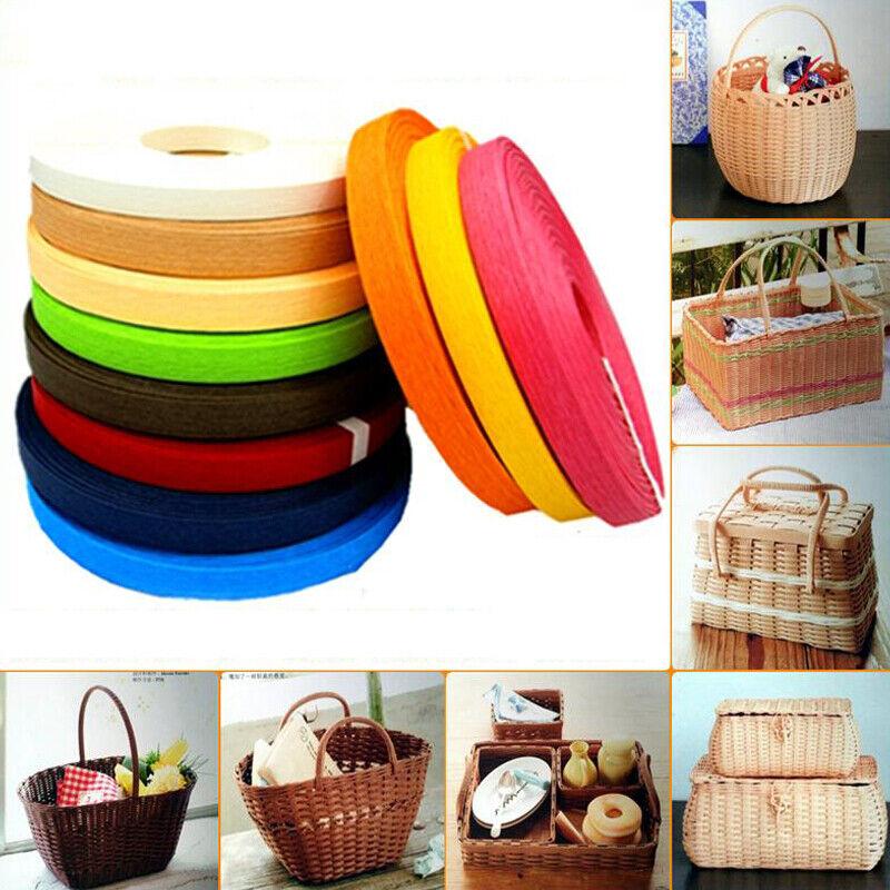 20M Wide Paper Rattan Woven Rope Manual Colored Paper Rope DIY Basket Material