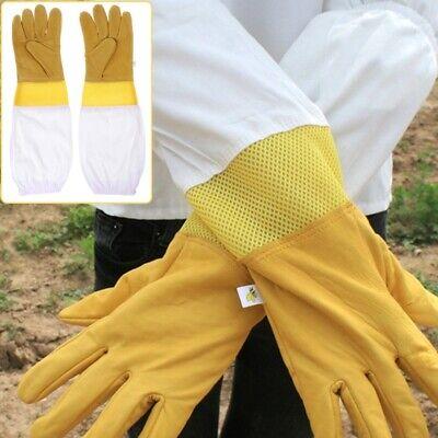 1 Pair Beekeeping Gloves Breathable Mesh Protective Gloves Beekeeper Tool