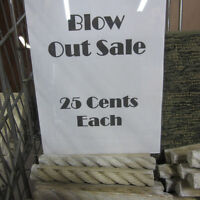 Blow Out Sale on Tile Rope Moldings