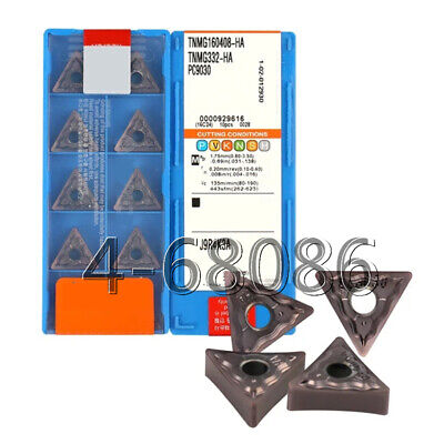 10pcs TNMG332-HA H01 TNMG160408 CNC Aluminum inserts processing non-ferrous