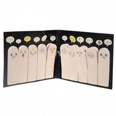 Spezielle 200 Seiten Klebepapier Cute Fingers Sticker Lesezeichen Memo Viscid Ew Lesezeichen Sticker