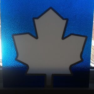 Stained Glass Panel - Toronto Maple Leaf