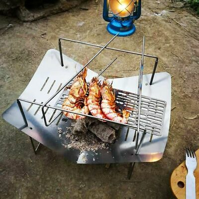 Ultralight Outdoor Wood Stove Burner Folding Titanium Heating Barbecue Charcoal