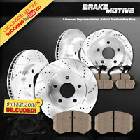 Front & Rear DRILLED SLOTTED BRAKE ROTORS AND CERAMIC PADS $480