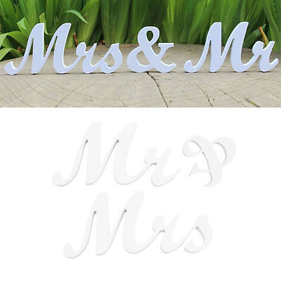 Mr & Mrs Letters (New Mr & Mrs Letters Wooden Standing Top Table Wedding Sign Decoration)