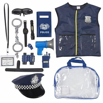 Police Officer Costume Child (Police Uniform for Kids - 14-Piece Police Officer Costume Role Play)