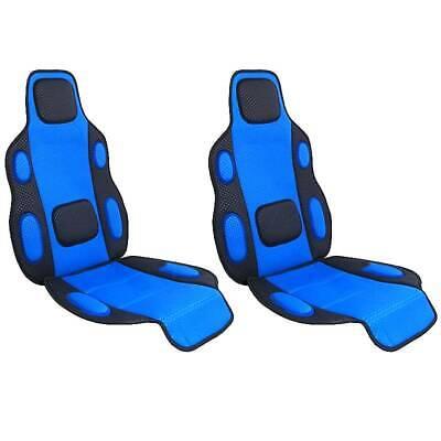 2 x Sitzauflage, Sitzschoner blau Polsterung weich für Auto PKW Bus Typ Tuning