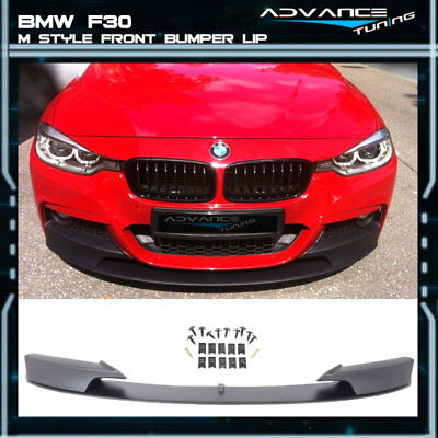 For 12-18 BMW F30 3 Series M Style Front Bumper Lip Unpainted - PP