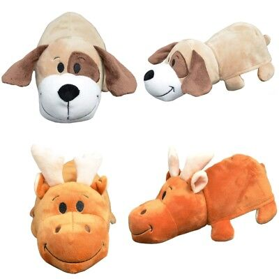 Peak a Boo Buddies - Reversible Soft Plush Toy - Reindeer Dog Collectible Animal