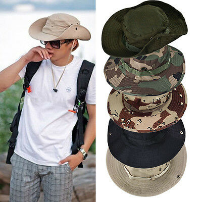 Cool Military Army Women Men Bucket Hat Outdoor Hunting Wide Brim Fisherman Cap