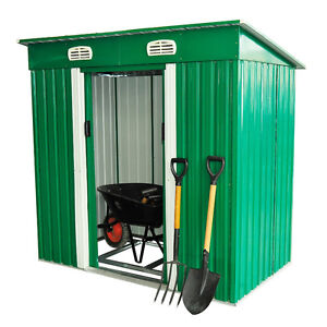 """77"""" x 48"""" Metal Garden Shed Tool Kit Storage Lockable Patio Buil"""