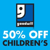 50% off Goodwill Back to School Children's Sale on August 23-24