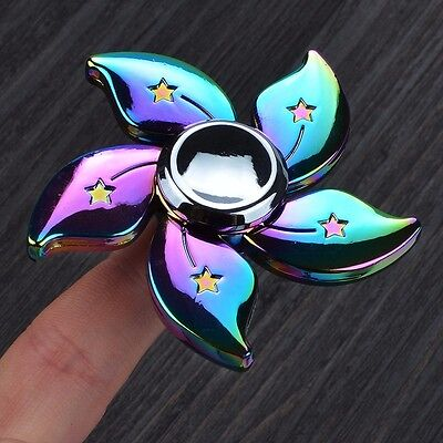 Rainbow Bauhinia Flower Fidget Spinner Hand Finger Gyro Edc Focus Toy Steady Us